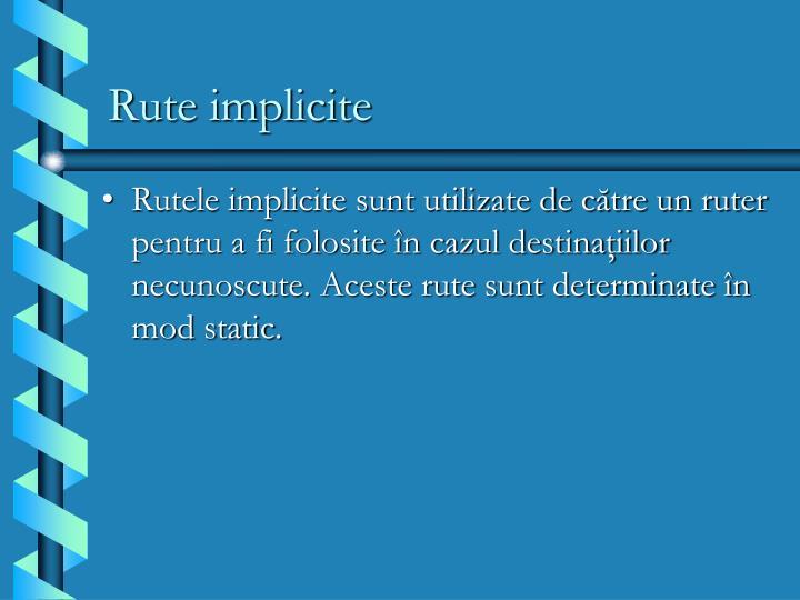 Rute implicite