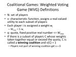 coalitional games weighted voting game wvg definitions