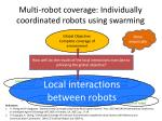multi robot coverage individually coordinated robots using swarming3