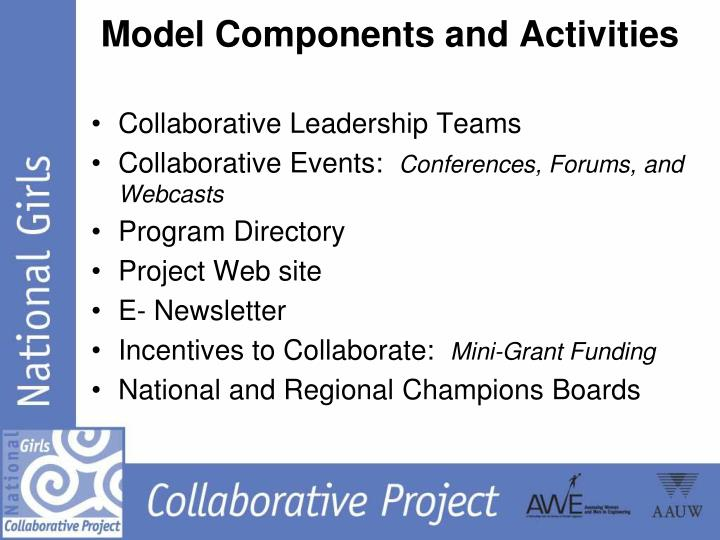 Model Components and Activities