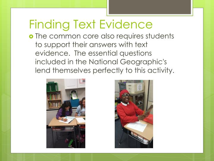 Finding Text Evidence