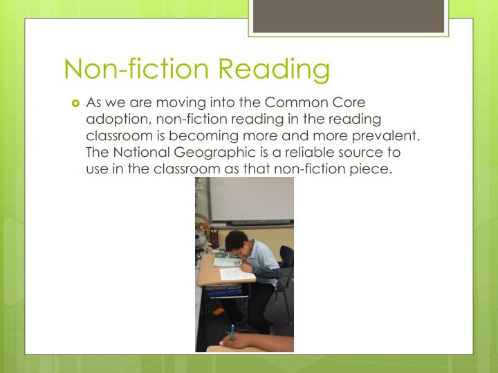 Non fiction reading