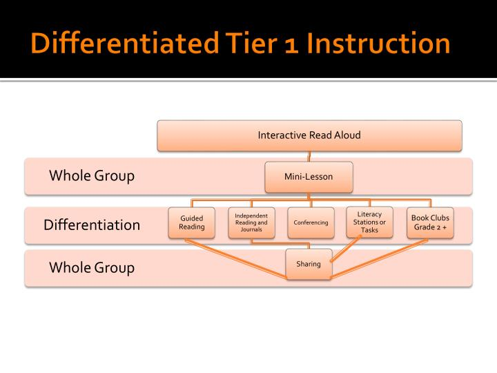 Differentiated tier 1 instruction