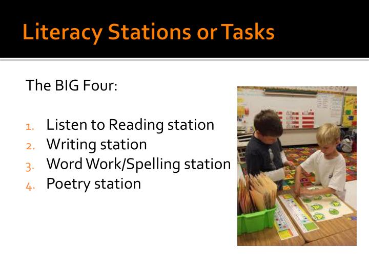 Literacy Stations or Tasks