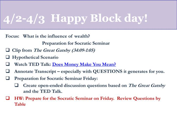 4/2-4/3  Happy Block day!