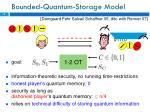 bounded quantum storage model
