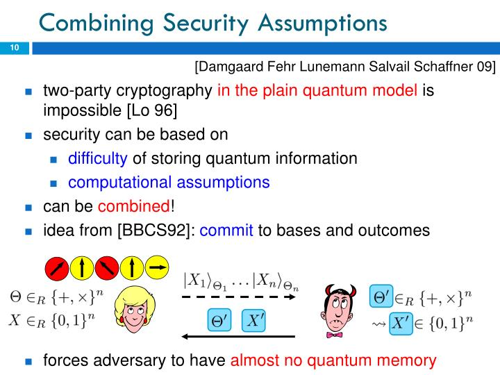 Combining Security Assumptions