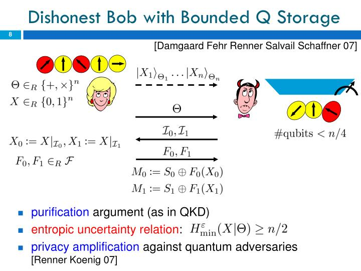 Dishonest Bob with Bounded Q Storage