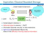 inspiration classical bounded storage