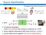 secure identification
