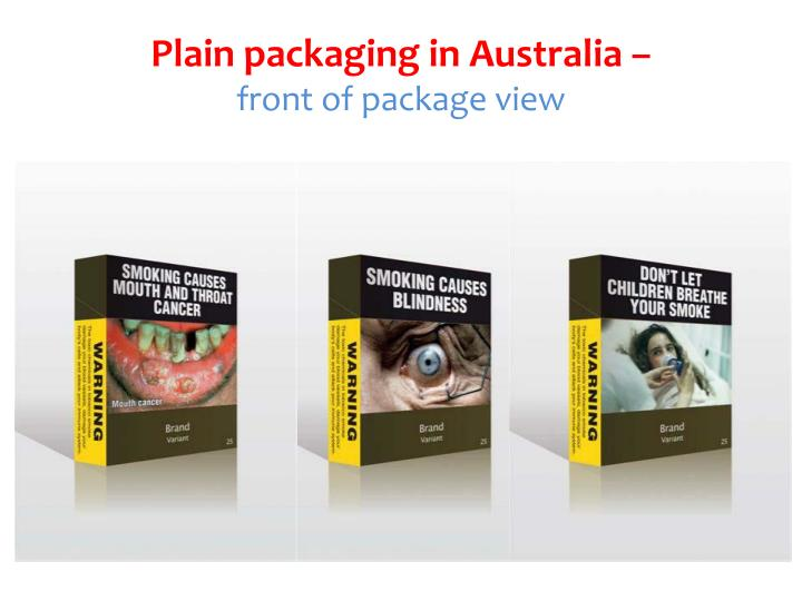 tobacco marketing plain packaging Plain packaging is a policy with potentially significant consequences, not all of which are well understood.