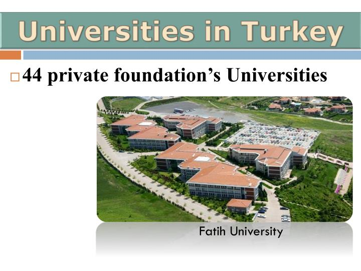 Universities in Turkey
