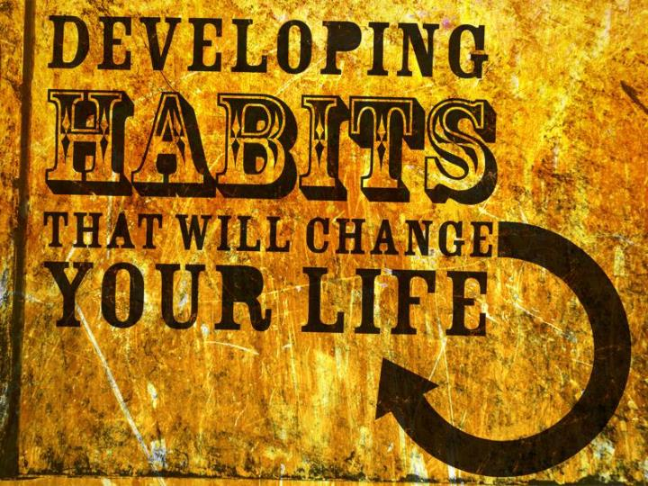 Habit an acquired behavior pattern regularly followed until it has become almost involuntary