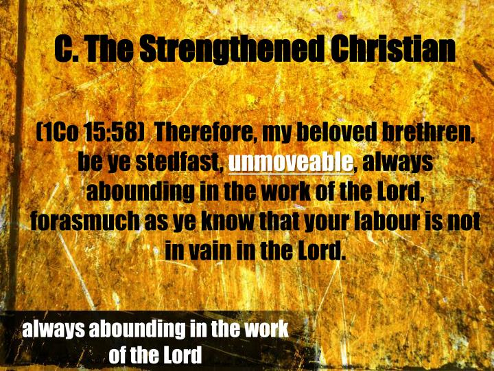 C. The Strengthened Christian