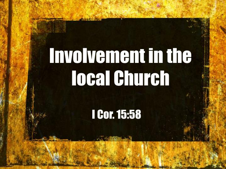 Involvement in the local Church