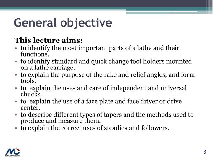 General objective