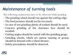 maintenance of turning tools1