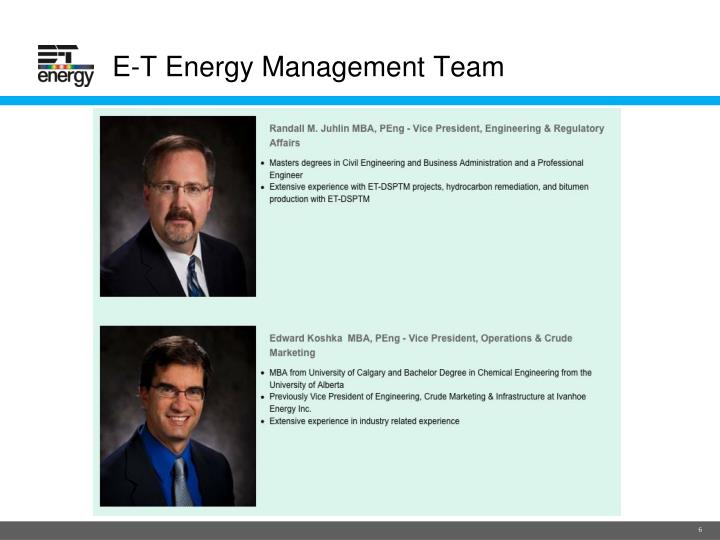 E-T Energy Management Team