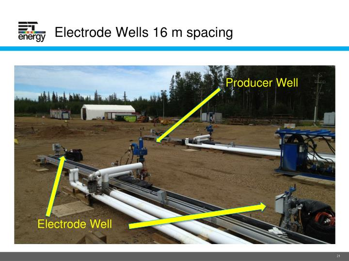 Electrode Wells 16 m spacing