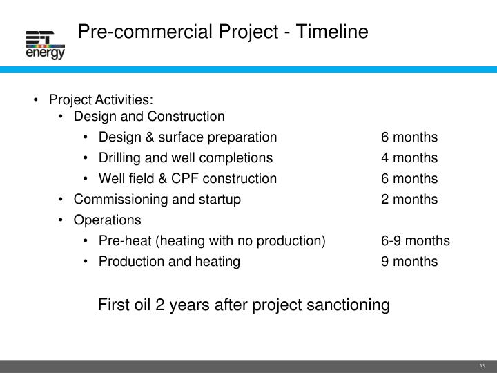 Pre-commercial Project - Timeline
