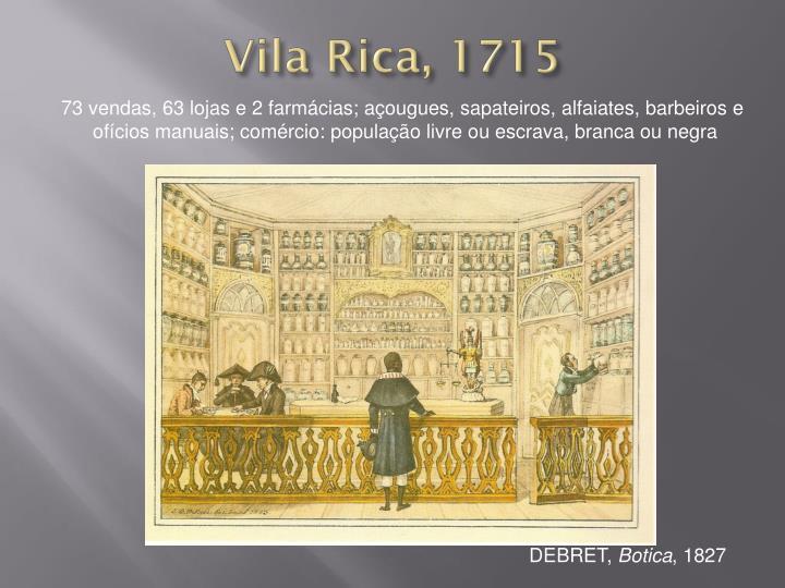 Vila Rica, 1715