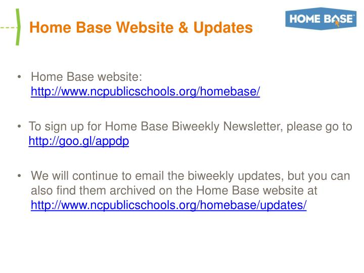 Home Base Website