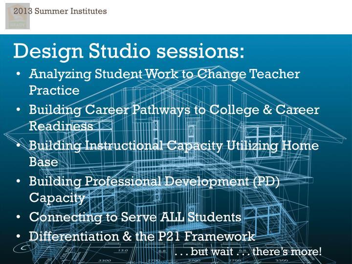 2013 Summer Institutes