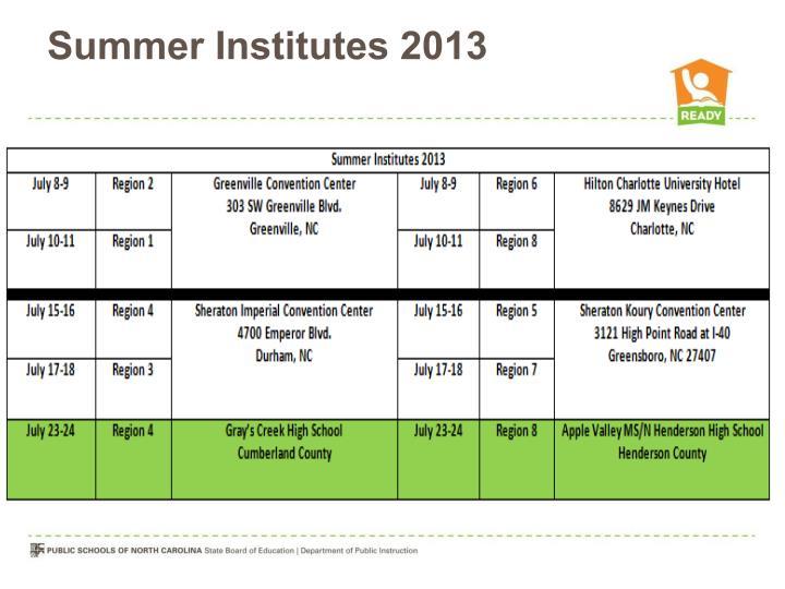 Summer Institutes 2013
