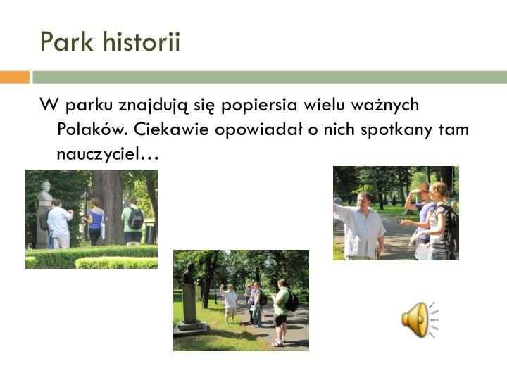 Park historii
