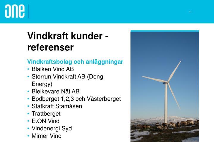 Vindkraft kunder - referenser