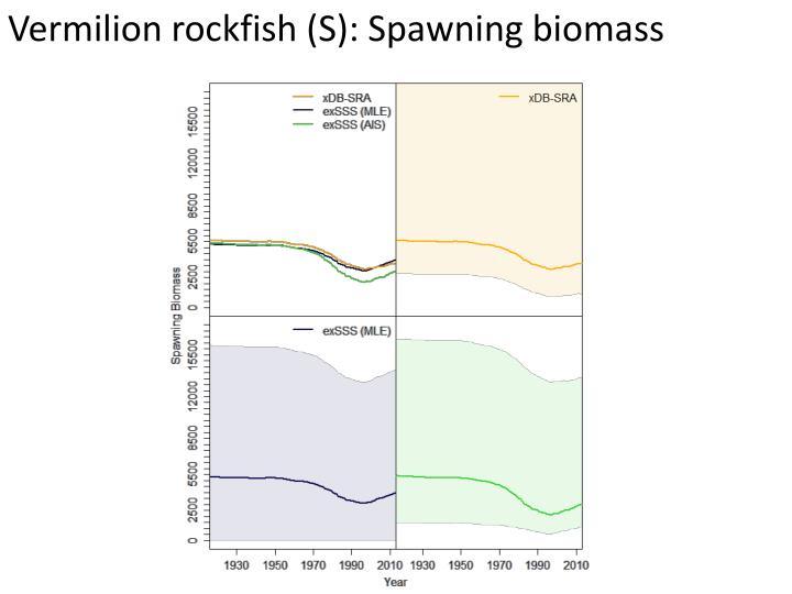 Vermilion rockfish (S): Spawning biomass