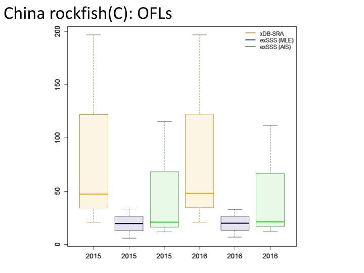 China rockfish(C): OFLs