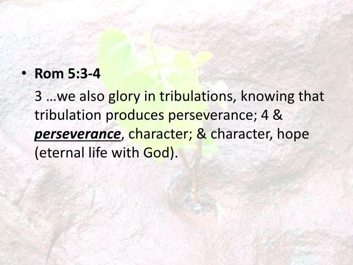 Rom 5:3-4