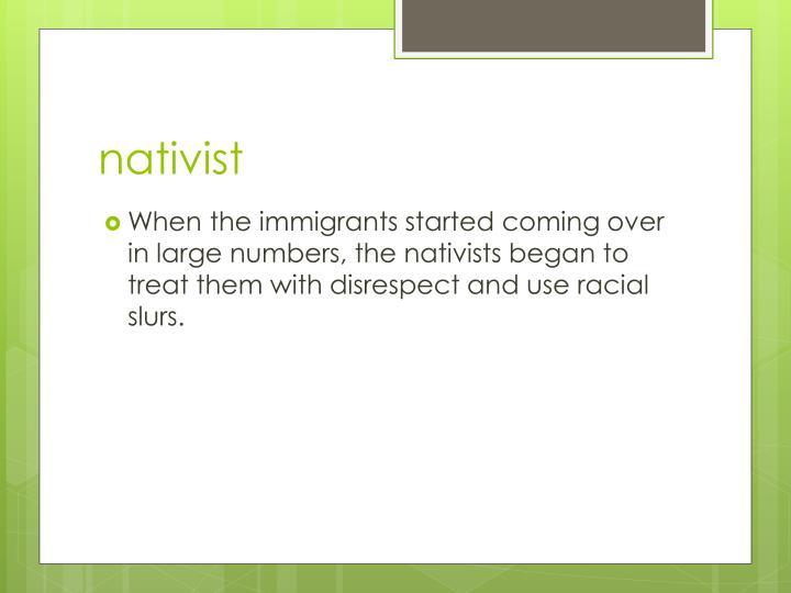 nativist