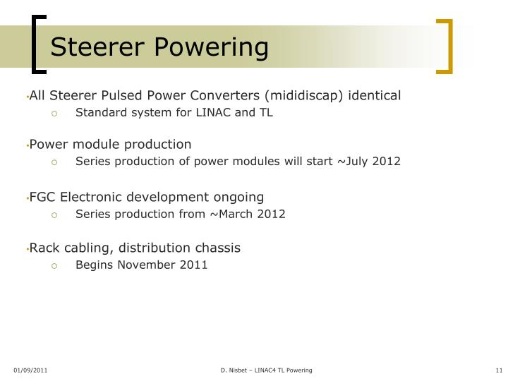 Steerer Powering