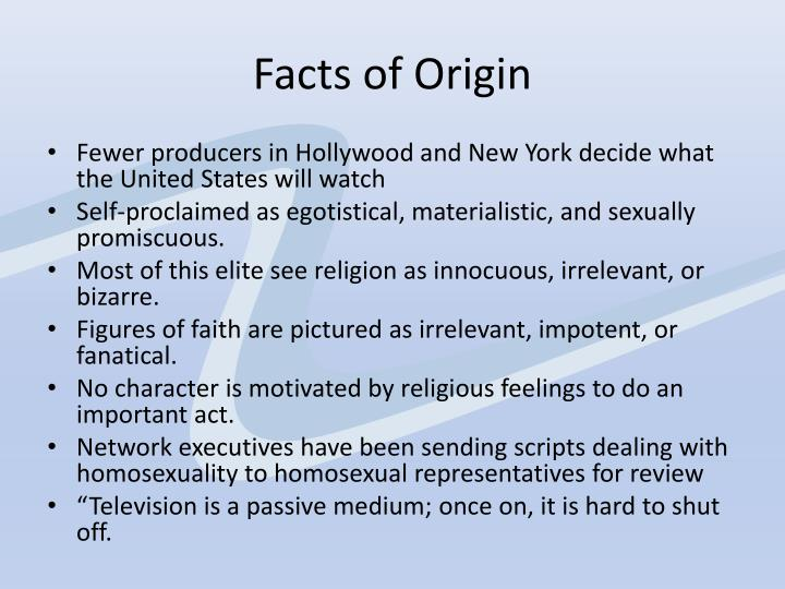 Facts of Origin