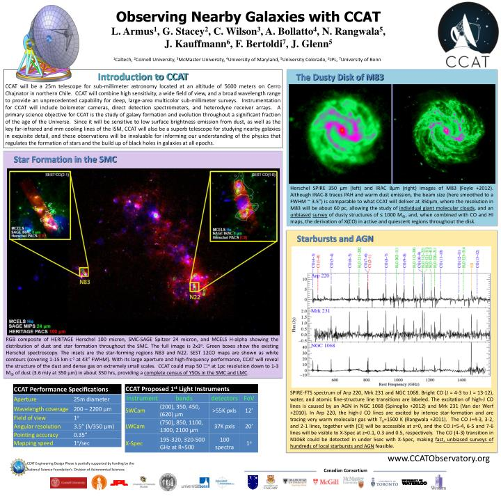 Observing Nearby Galaxies with CCAT