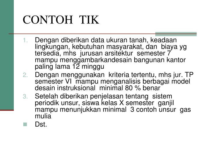 CONTOH  TIK