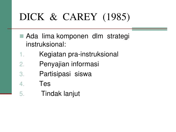 DICK  &  CAREY  (1985)