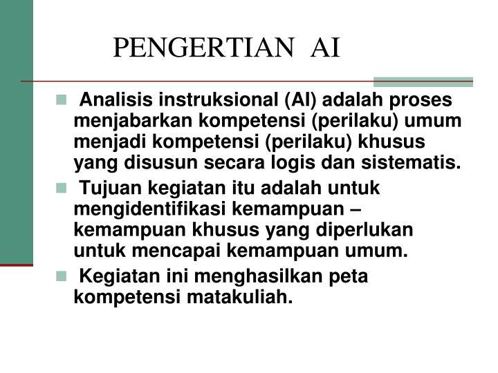 PENGERTIAN  AI