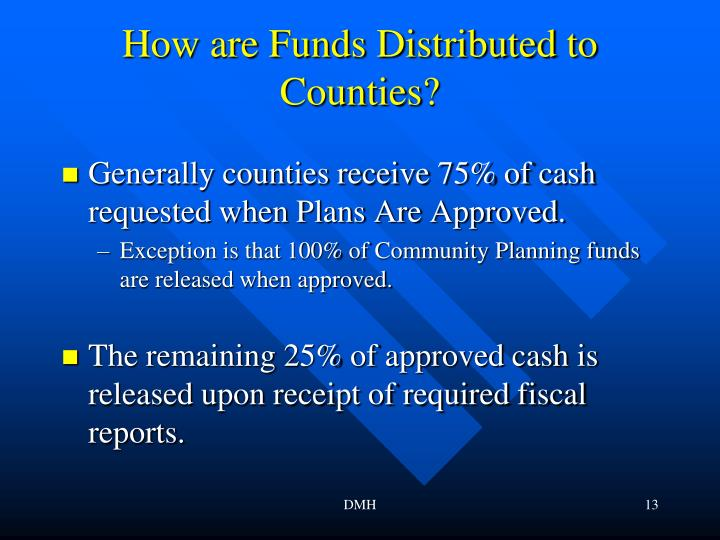 How are Funds Distributed to Counties?