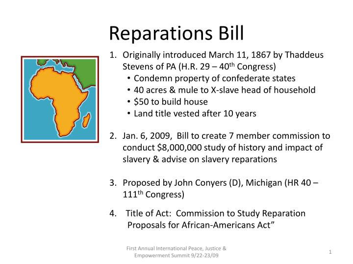 is now the time for reparations for african americans essay