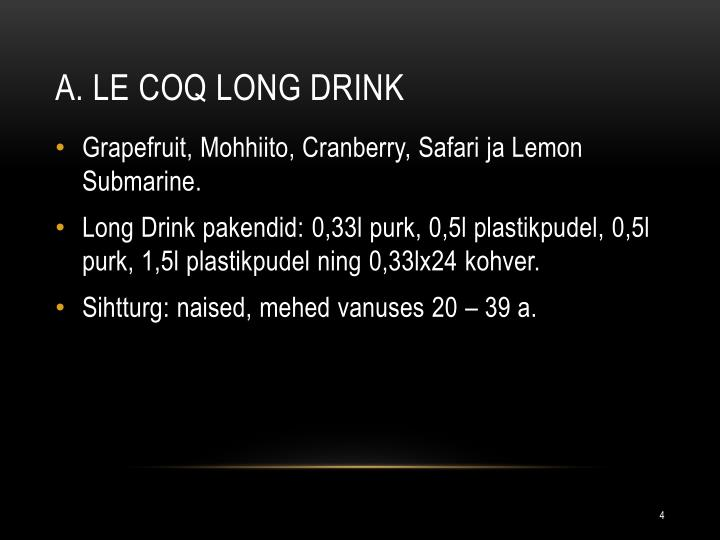A. Le Coq Long Drink
