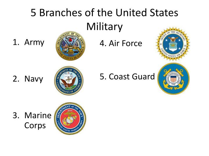 5 Branches of the United States Military