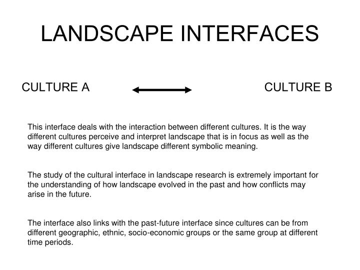 LANDSCAPE INTERFACES