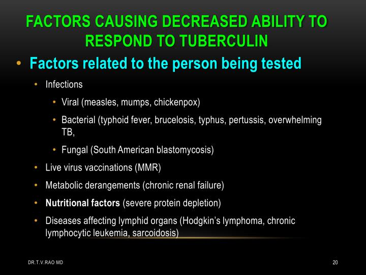 Factors related to the person being tested