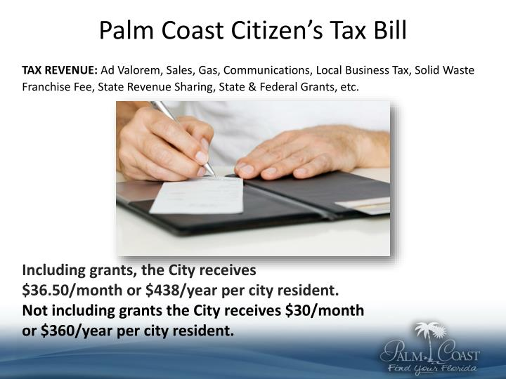 Palm Coast Citizen's Tax Bill