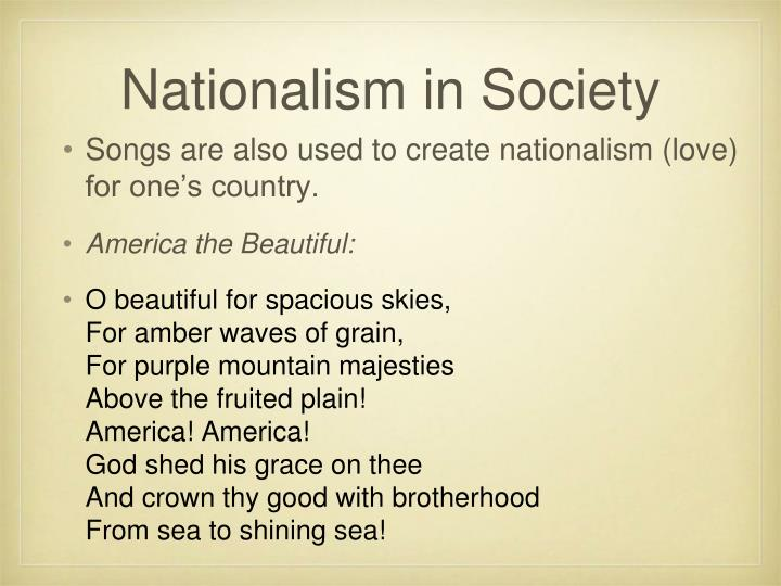 Nationalism in Society
