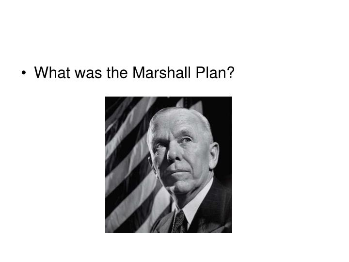 What was the Marshall Plan?