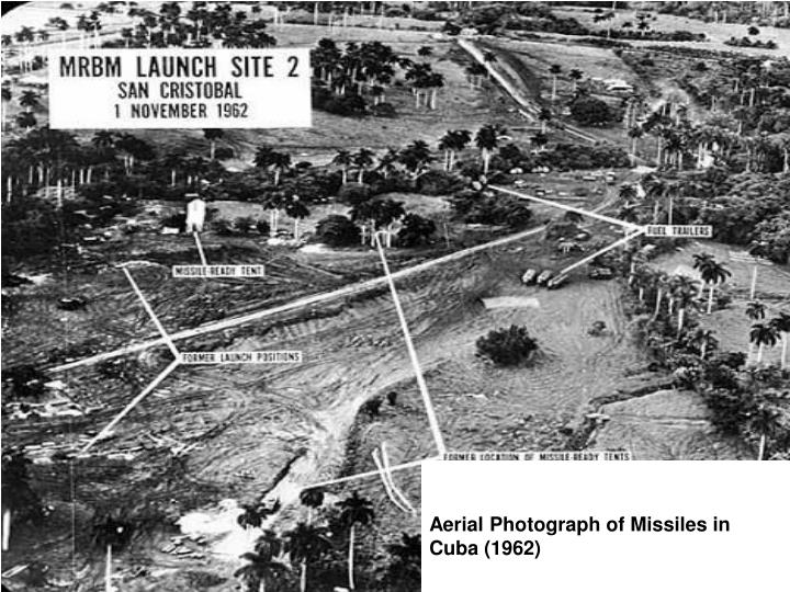 Aerial Photograph of Missiles in Cuba (1962)
